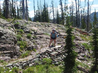 Suckin air!  The trail up to Sapphire is SO steep!