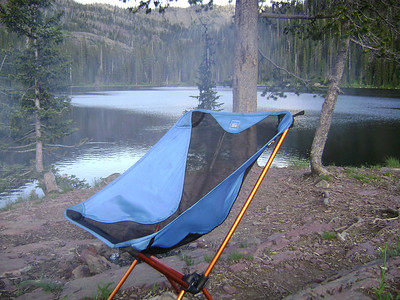 Dave's camp chair, even backpackers need comfort!