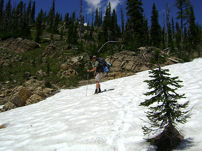 Yea...thats the trail and YES it is July!