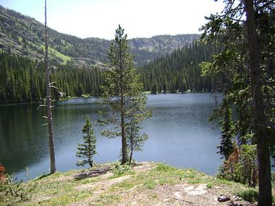 Upper Holland Lake, where we made camp.