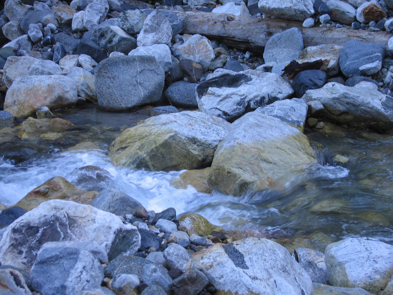 Day 8: Instead of the bridge I hopped across these rocks, which I just barely made without getting wet