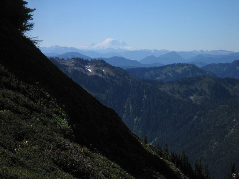Day 9: Mount Rainier, visible from over 100 miles away on this clear day.
