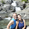 2013-08-31<br /> Us midway across Doubtful Creek, taking a break by the cool water.