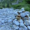 That is one huge cairn at Basin Creek