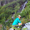 2013-08-31<br /> Me next to cascades on Soldier Boy Creek, rocking those knee high socks...
