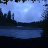 The view from our tent that night, of the Hoh River :-)