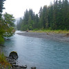 The Hoh River, which fed from the glaciers on Mt Olympus