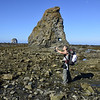 Scott and sea stack