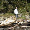 Scott next to a whale carcass, yes it stunk. :-(