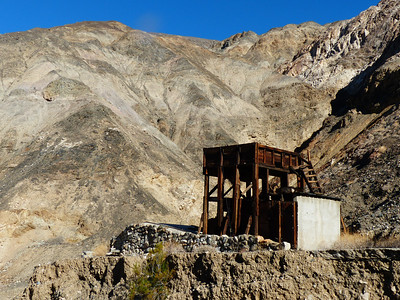 5 minutes from the trailhead is the remains of a building that is part of an old tram system.
