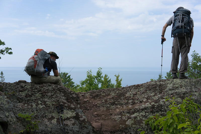 We did around 11 miles on the last day. Final view of Lake Superior.