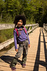 Crossing the bridge by Lake of the Clouds. We were doing 3 to 4 miles this day towards Mirror Lake.