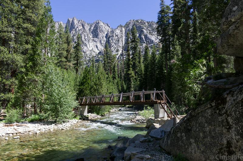 Bridge over Arrow Creek near Middle Paradise Valley camp