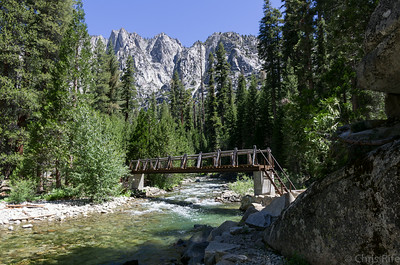 Bridge over Arrow Creek near Middle Paradise Valley camp