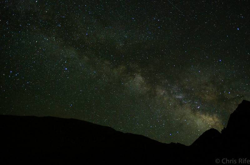 Better Milky Way viewing, again as seen from my sleeping bag