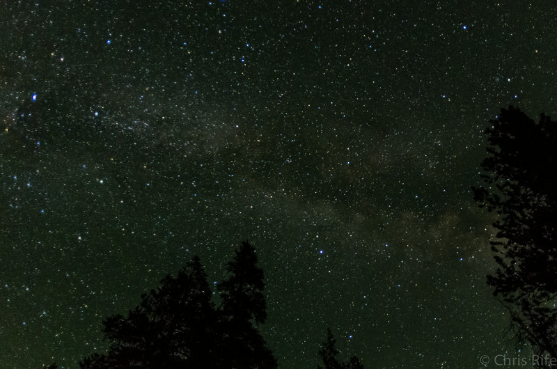View of the Milky Way from my sleeping bag