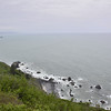Looking out over the coastline at the start of our 2 day backpacking trip at Requa overlook.