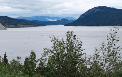 The Chitina-Copper River Confluence as seen from the road on the drive from Anchorage to McCarthy,