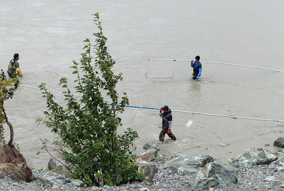 Salmon netting at the Chitina-Copper Confluence.