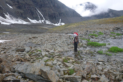 Day 1 - Easy stream crossing. The big stream which you see below is underground where we cross.