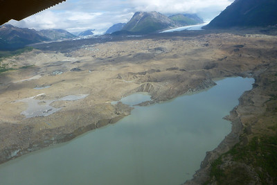 Day 1 - View of Kennicott Glacier as we take off in McCarthy.