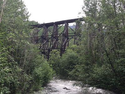 Old railway bridge  on road from Chitina to McCarthy.