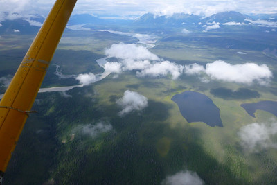 Day 1 - The Chitina River is below.