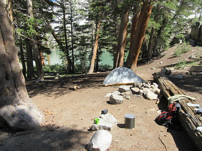 I made camp at First Lake (9961') for two nights.