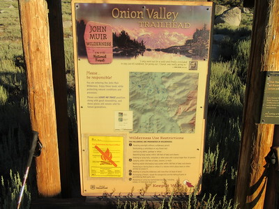 I started at the Onion Valley Trailhead (9,185'), which ...