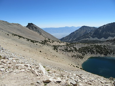 ... arriving there, where I had this view back down from Kearsarge Pass (11,845') and then ...