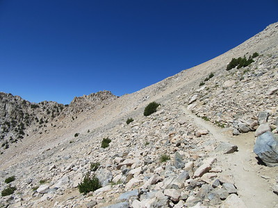 I climbed closer to Kearsarge Pass, eventually ...