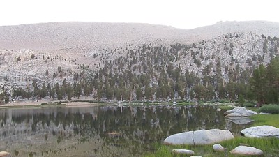 The next morning I took this video of Muir Lake, but ...