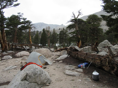 ... Muir Lake (11,130') where a three hour thunderstorm soon moved in and I camped for two nights.