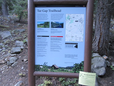 I started at the Tar Gap Trailhead in Mineral King (7440').