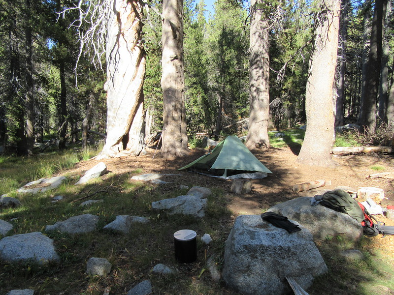 ... my nearby campsite for the night.