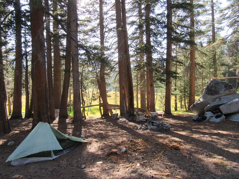 ... I camped at the lower end for two nights.