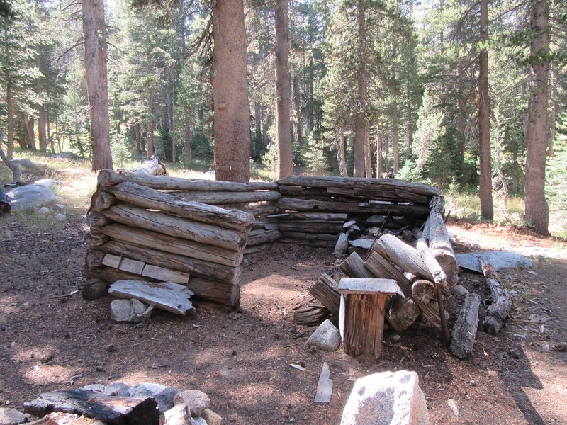 I then headed down into the National Forest and passed this old cabin on the way down to ...