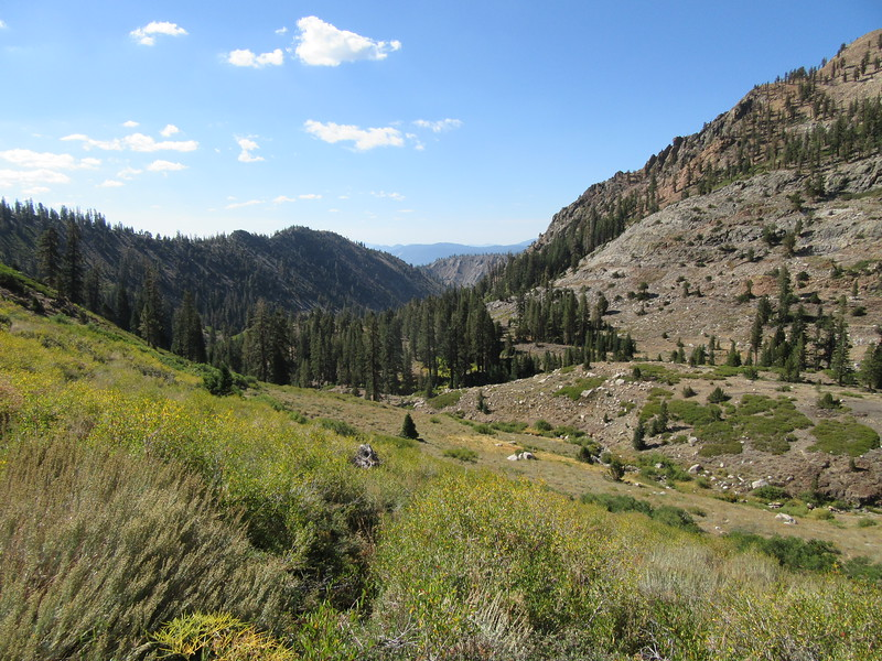 As I climbed up the canyon, I had this view back down it to the south and ...