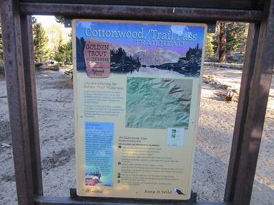 I again started from Horseshoe Meadow at the Cottonwood Pass Trailhead (9960'), but with two new destinations in mind.