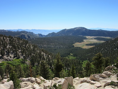 From Cottonwood Pass (11,160'), I had this look back east at Horseshoe Meadow and then of ...