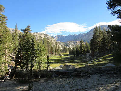 The next morning started on a hike to Miter Basin, but first passed this canyon that leads up to Soldier Lakes.