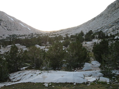 ... while looking over my campsite at Piute Pass, just after the sun had set.  As the sun was settung in the west ...