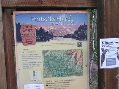 I started from the Piute Pass (aka North Lake) Trailhead (9,345') and ...