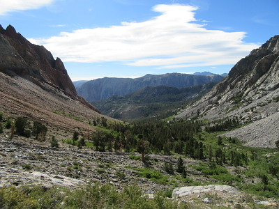 Part way up, I had this view back down the canyon before reaching the next tier where ...
