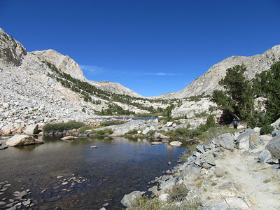 ... two unnamed small lakes on the way up to ...
