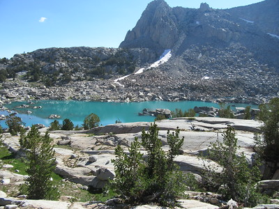 Continuing up, I went by Topsy Turvy Lake (10,800'), ...