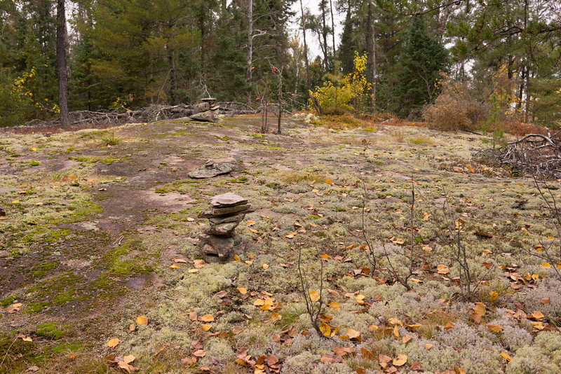 Rock cairns helped to mark the trail, but were rarely needed as the trail was usually obvious.