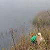 The foggy lake.