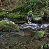 Scott making our next to last crossing of Slickrock creek, just above Wildcat Falls