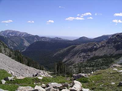 Top of Headquarters Pass (elevation 9392)